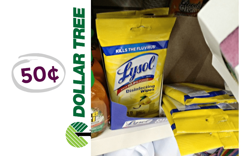 Cleaning Up on Supplies at Dollar Tree~ 50¢ LYSOL WIPES!!!