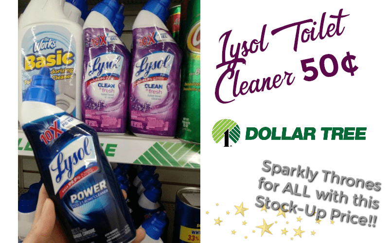 Sparkly Thrones for ALL~ 50¢ Lysol Toilet Cleaner!