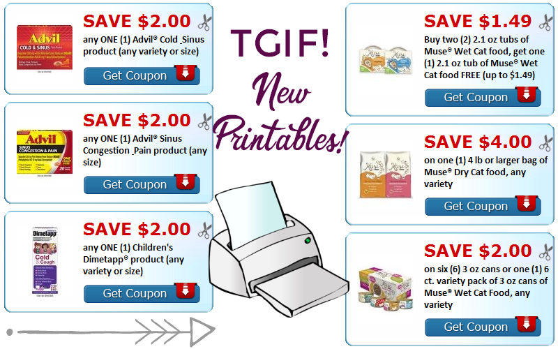 $13.49 in NEW Coupons to Print~ #TGIF Y'all!!