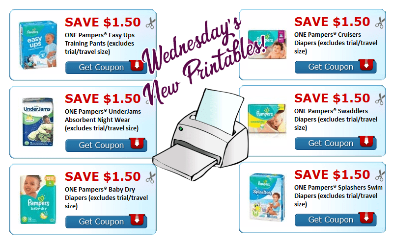 Parents~ $9 in NEW Pampers Printables!