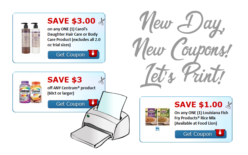 Print Today's NEW Coupons! (March 6)