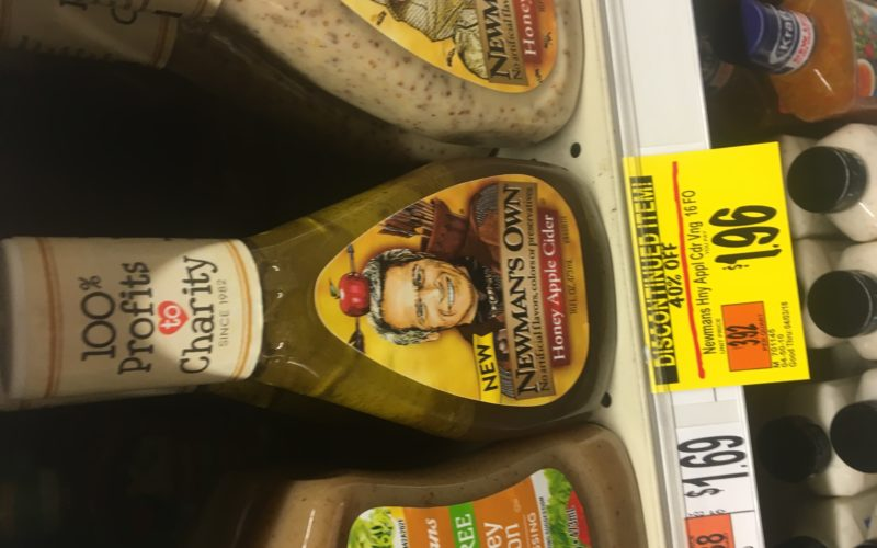 Under $1 Newmans Own salad dressing