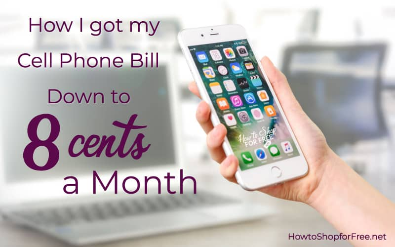 How I got my Cell Phone Bill down to 8 Cents per month