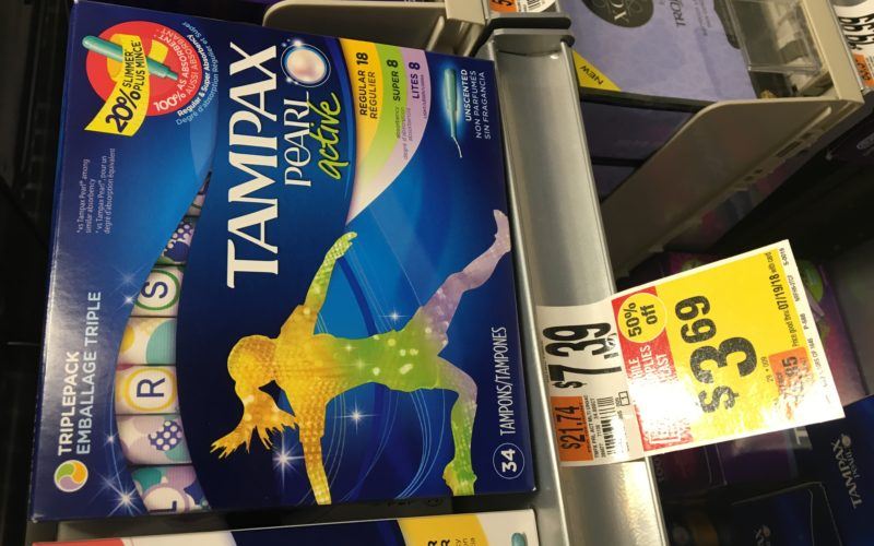 SAVE 70% on Tampax pearl triple pack!
