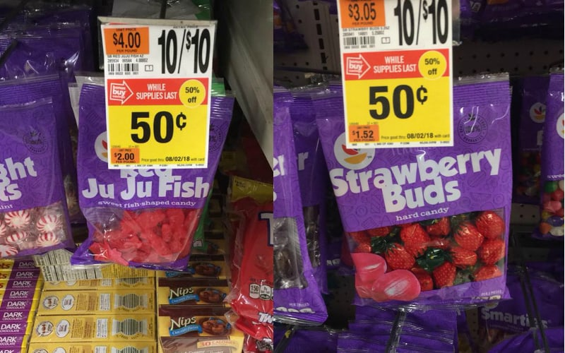 Ju Ju Fish or Strawberry Buds Candy Only $.50 at Stop & Shop