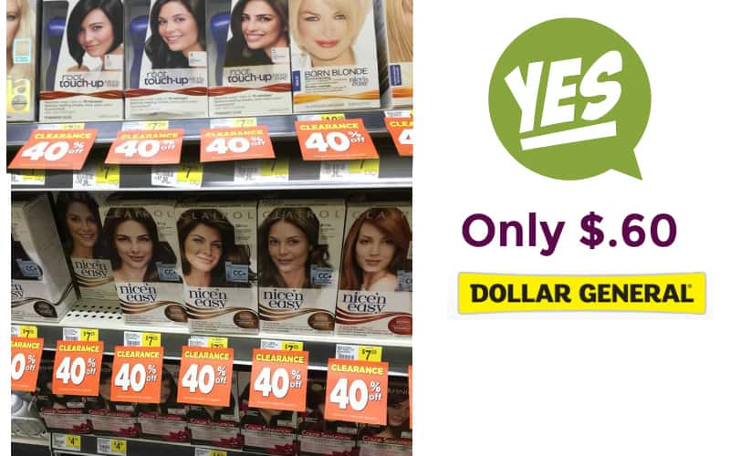 WOW! Clairol Nice n' Easy Hair Color Only $.60!