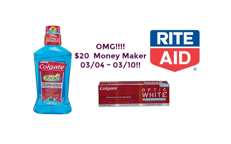 OMG!!!! Up to $20 Colgate Money Maker at Rite Aid 03/04 ~ 03/10!!