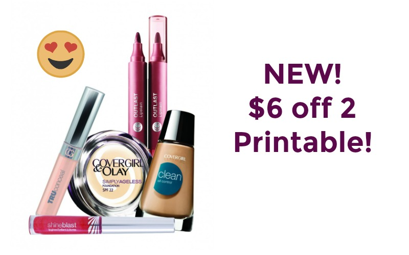 NEW $6 Off 2 Covergirl Products Coupon! Print NOW!