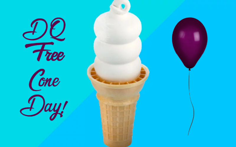 TODAY is Dairy Queen's FREE Cone Day!! (3/20)