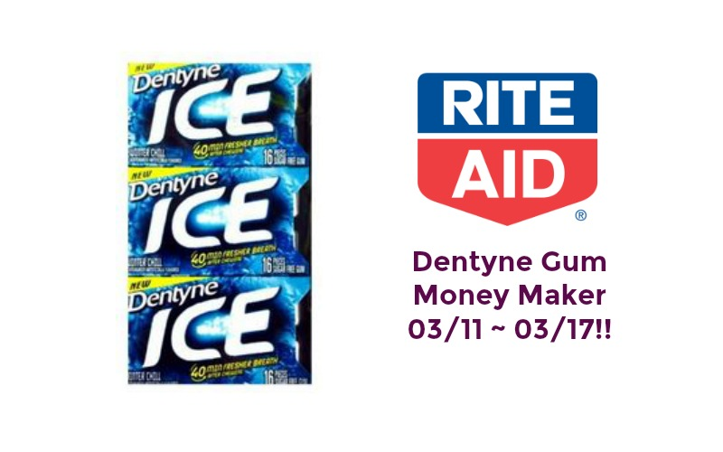 Money Maker on Dentyne Gum at Rite Aid 03/11 ~ 03/17!!