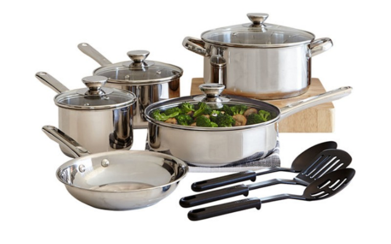 FREE Cooks 12-pc. Stainless Steel Cookware Set!