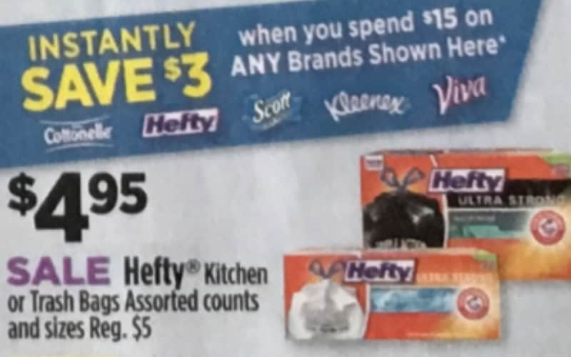 Hefty Kitchen or Trash Bags Only $2.45!