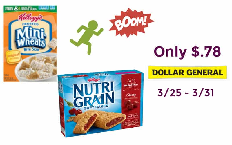 Select Kellogg's Cereal & Nutri Grain Bars Only $.78!