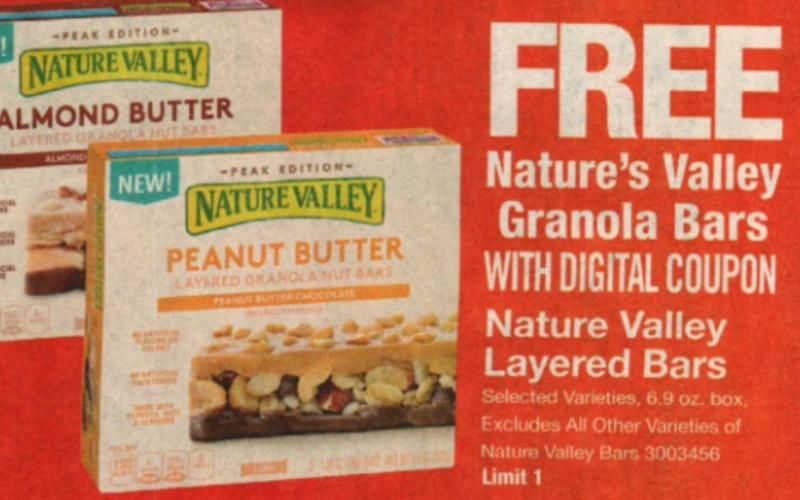 FREE Nature Valley Granola Bars at Stop & Shop