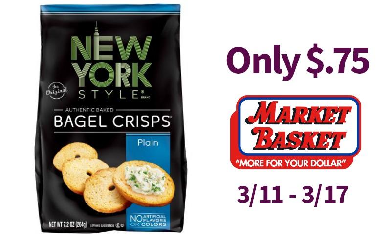 New York Pita Chips or Bagel Crisps Only $.75!