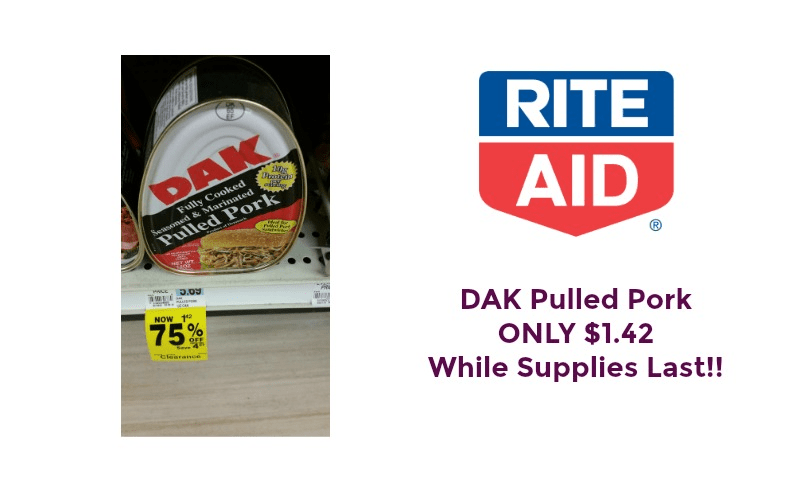 OMG! Pulled Pork ONLY $1.42 at Rite Aid While Supplies Last!!