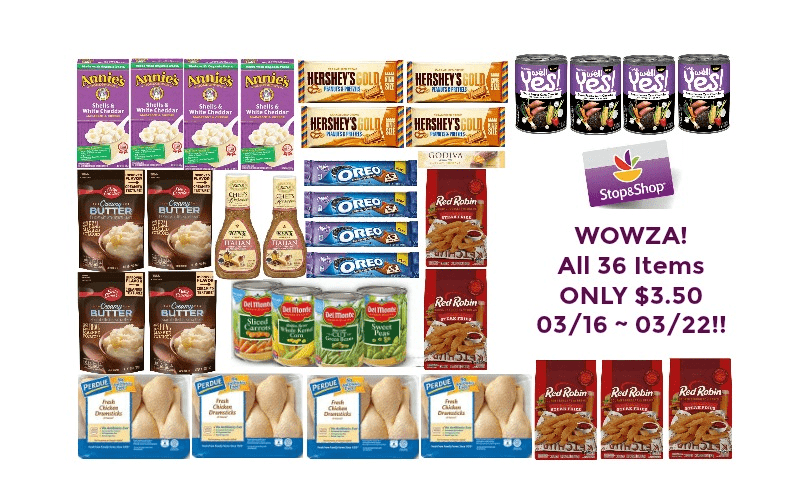 WOWZA! All 36 Items ONLY $3.50 at Stop & Shop 03/16 ~ 03/22!!