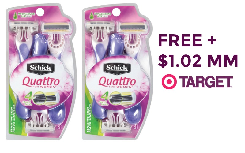 2 FREE + $1 Moneymaker Schick Razors at Target!