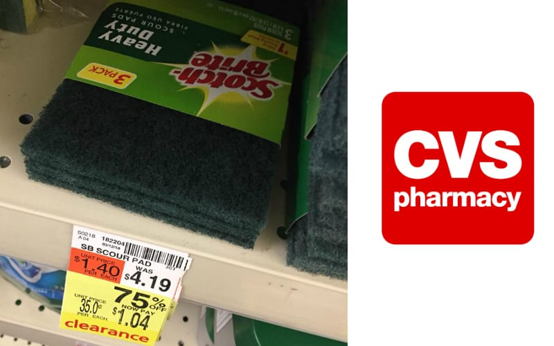 Scotch Brite Scour Pads 3 Pack Only $1.04 at CVS