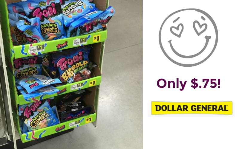 Trolli, Black Forest, or Now and Later Peg Bag Candy for $.75!