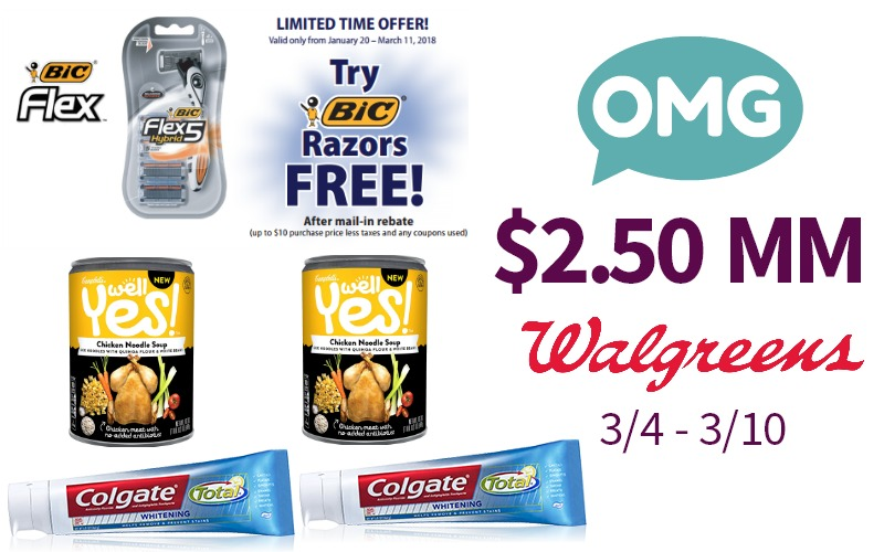 Make $2.50 Shopping at Walgreen's Starting 3/4!