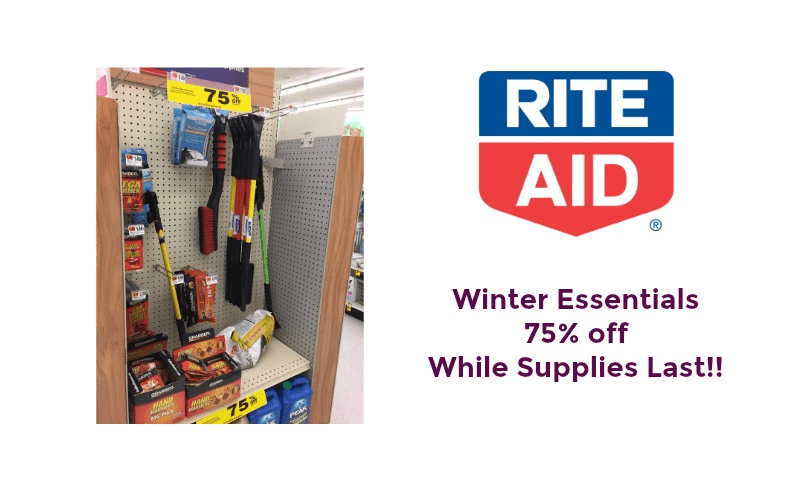 Winter Essentials 75% off at Rite Aid ~ Put Them Away for Next Year (or next week?)