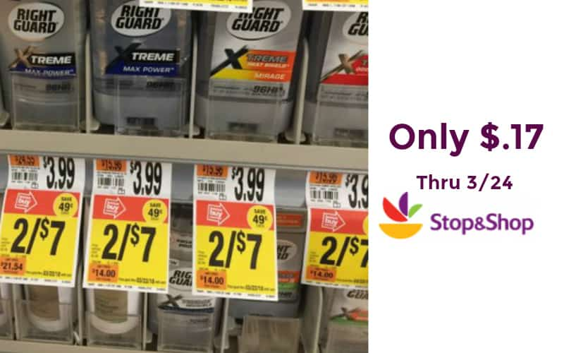 Right Guard Xtreme Deodorant Only $.17!!