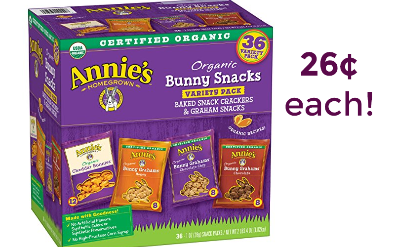 Annie's Organic Snack Packs~ ONLY 26¢/serving!