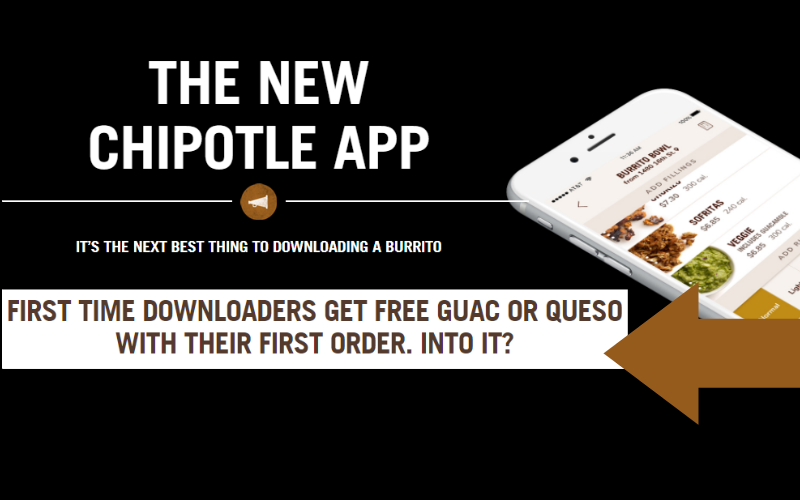 FREE Guac or Queso at Chipotle!! Spicy Steal!!