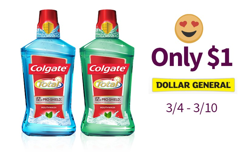 Stanky Breath? Get Colgate Total Mouthwash For Only $1!