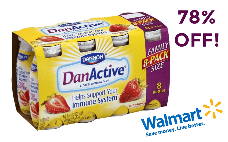 8pk. DanActive ONLY 88¢ at Walmart! (Reg/$4)