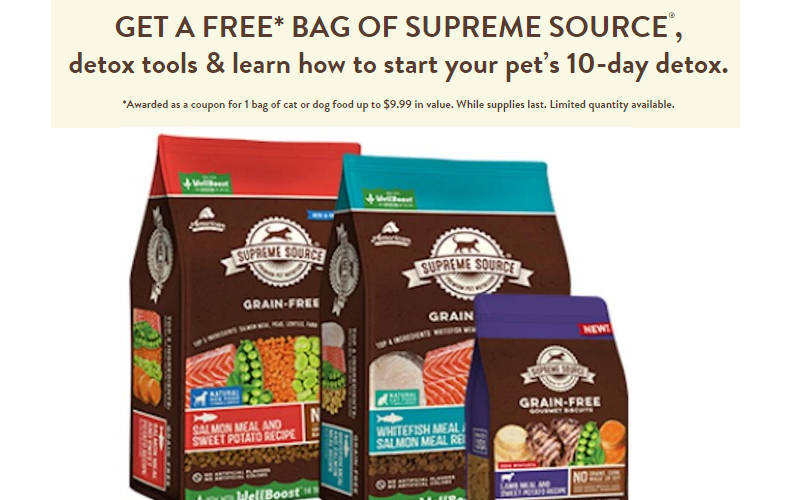 FREE Bag of Dog or Cat Food~ $10 Value, Print Now!!