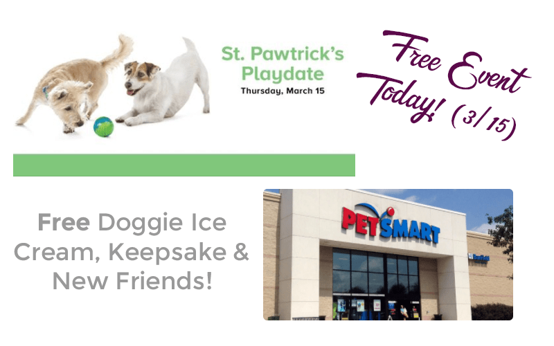 TODAY~ FREE St. Pawtrick's Playdate Event at PetSmart!