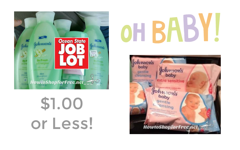 OH BABY.. Johnson's Products UNDER $1.00!