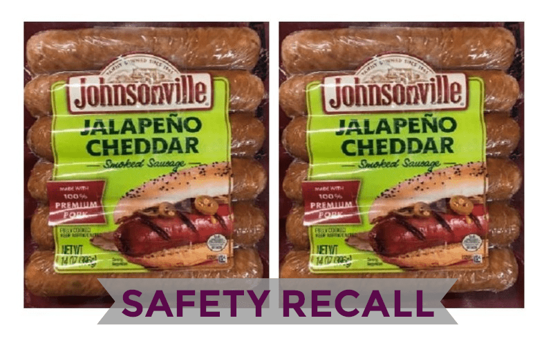 Johnsonville RECALLS 109K lbs. of Sausage- Plastic Found Inside Product!!