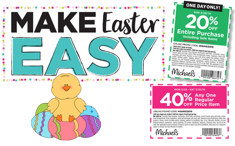 Make Easter Easy With Michaels Save On Sale Regular