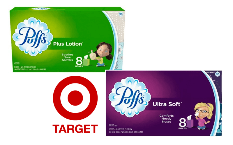 Puffs Plus or Ultra Soft – as low as 72¢ per box!!