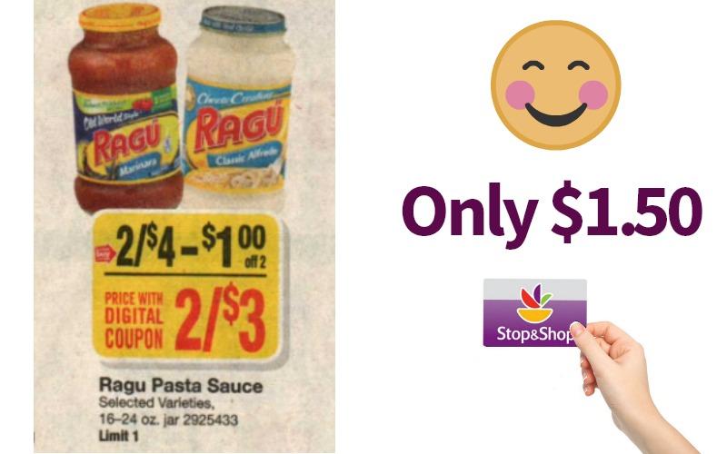 Ragu Pasta Sauce Only $1.50!