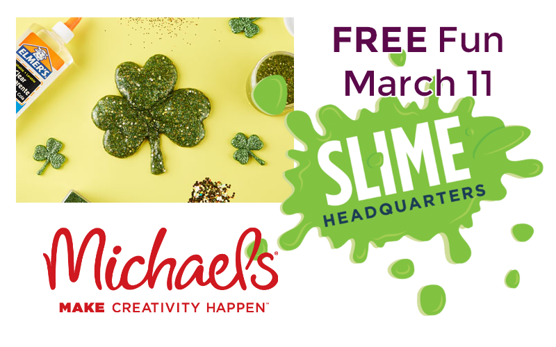 FREE Fun!~ Slime Sunday Event at Michaels (March 11)