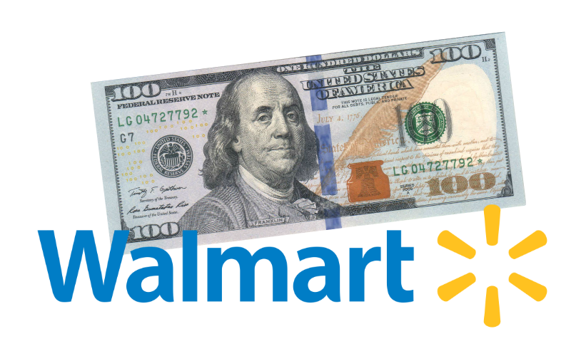 Want $100 FREE to Use at Walmart?!