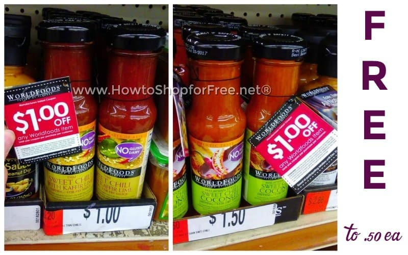 WorldFoods Sauces as low as FREE with Hangtag!