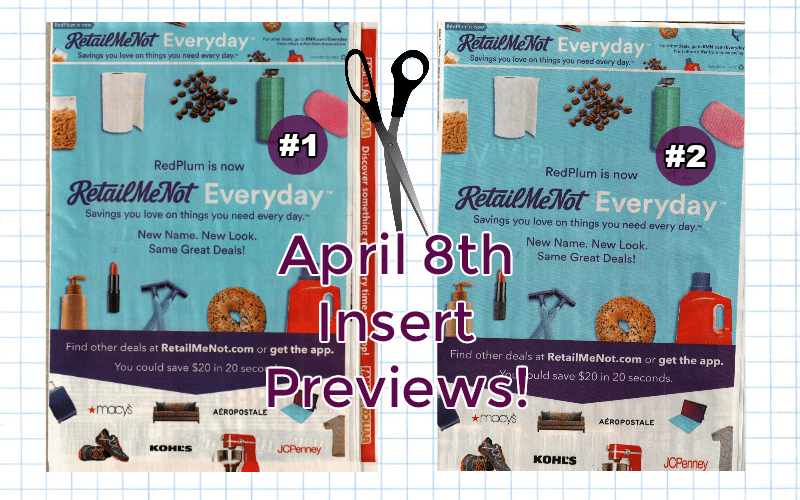 We've Got BOTH RetailMeNot Insert Previews for Sunday!