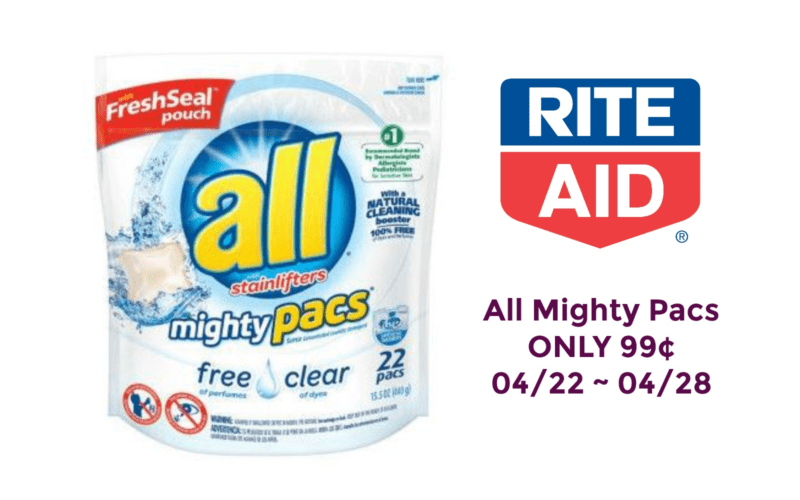 All Mighty Pacs ONLY 99¢ at Rite Aid 04/22 ~ 04/28!!
