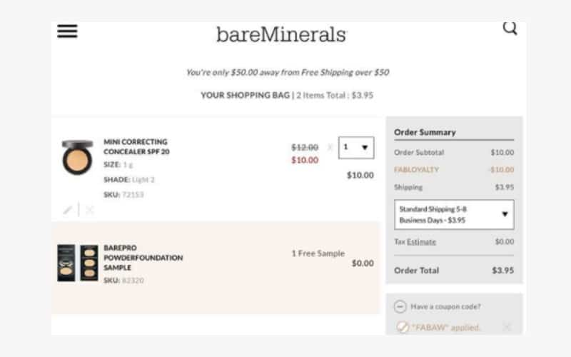 RUN! $10 Off $10 bareMinerals Purchase!
