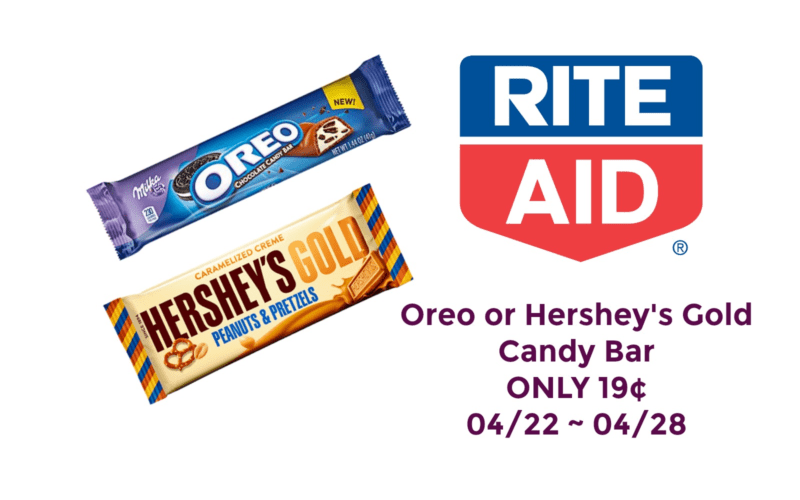 Oreo or Hershey's Gold Candy ONLY 19¢ at Rite Aid 04/22 ~ 04/28!!