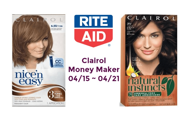 Money Maker on Clairol Hair Color at Rite Aid 04/15 ~ 04/21!!