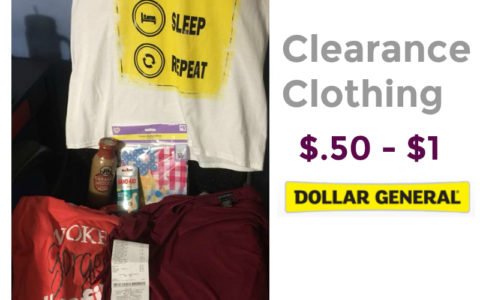 Have You Shopped At Dollar General This Week Be Sure To On The Look In Clothing Section For Clearance Blue Dot Gray And Red Triangle Hanging