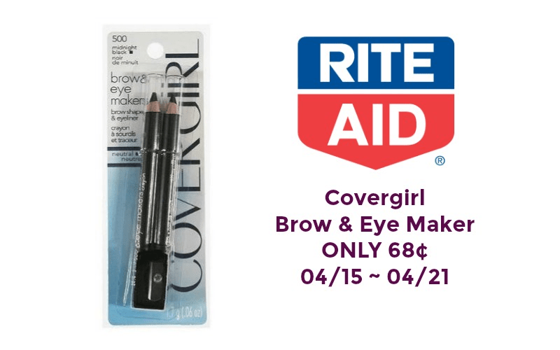 Covergirl Brow & Eye Maker ONLY 68¢ at Rite Aid 04/15 ~ 04/21!!