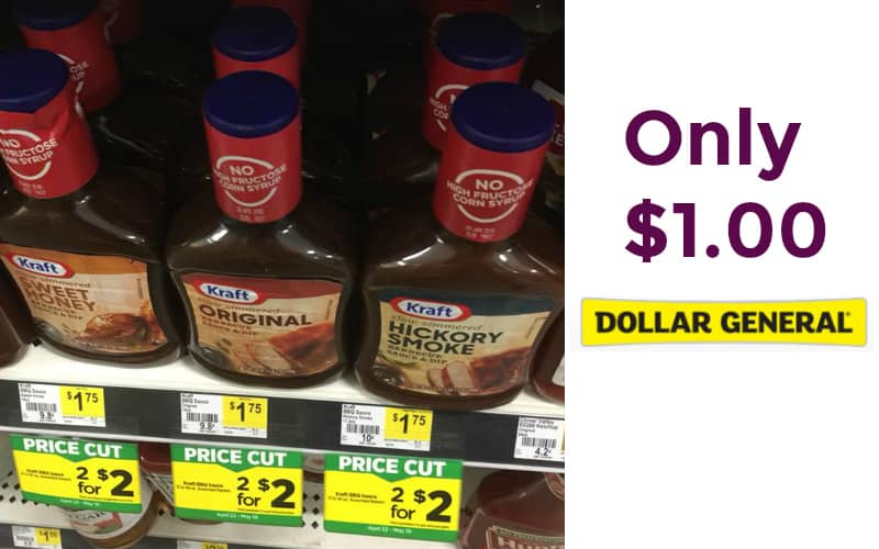 Kraft Barbecue Sauce Only $1