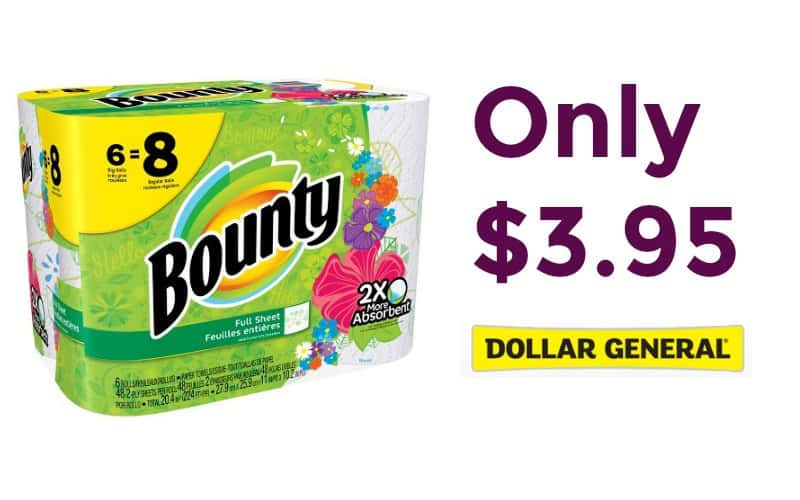 Bounty Paper Towels Only $.66 Per BIG Roll!